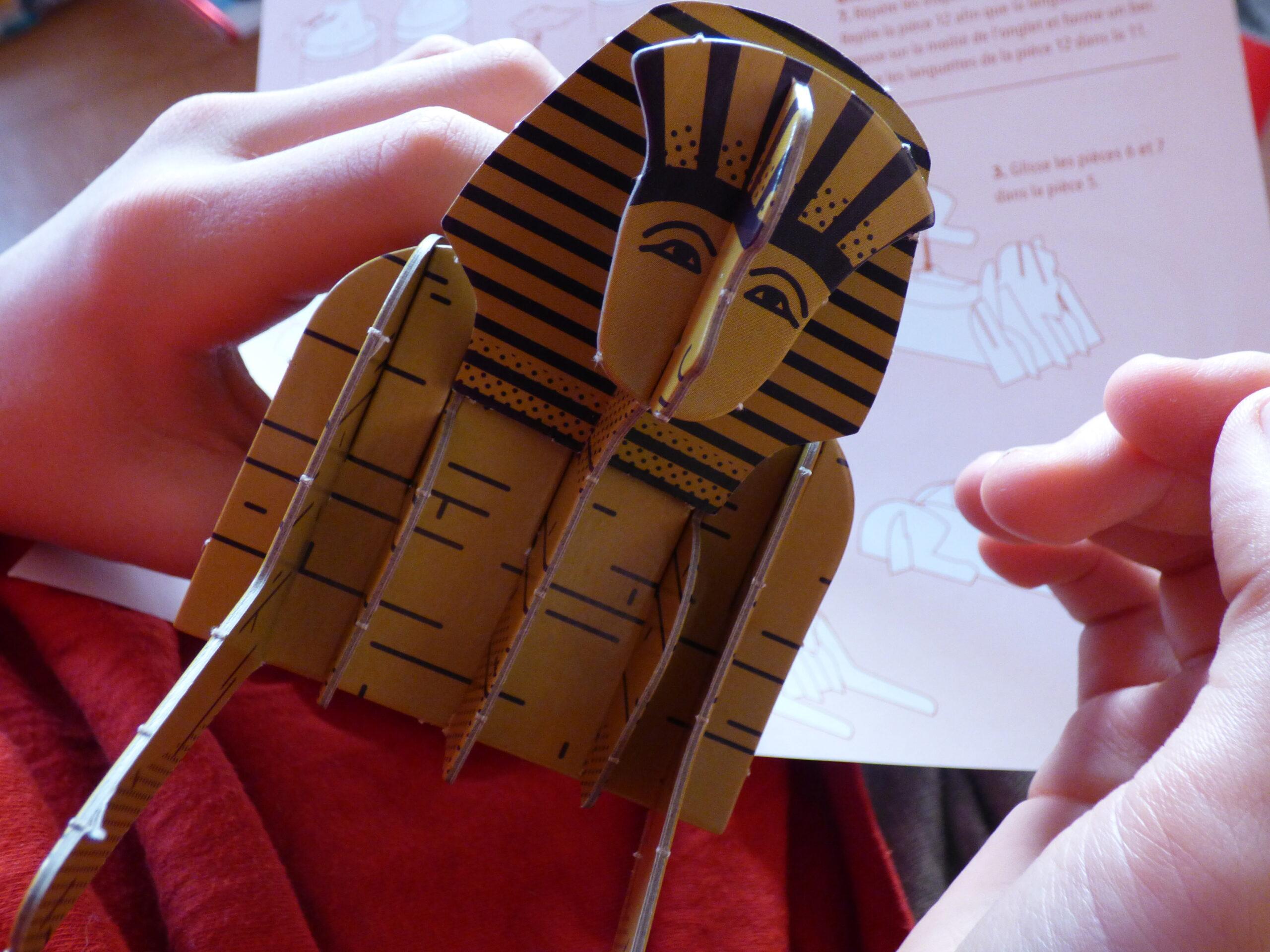 L'Egypte ancienne, maquette de sphinx