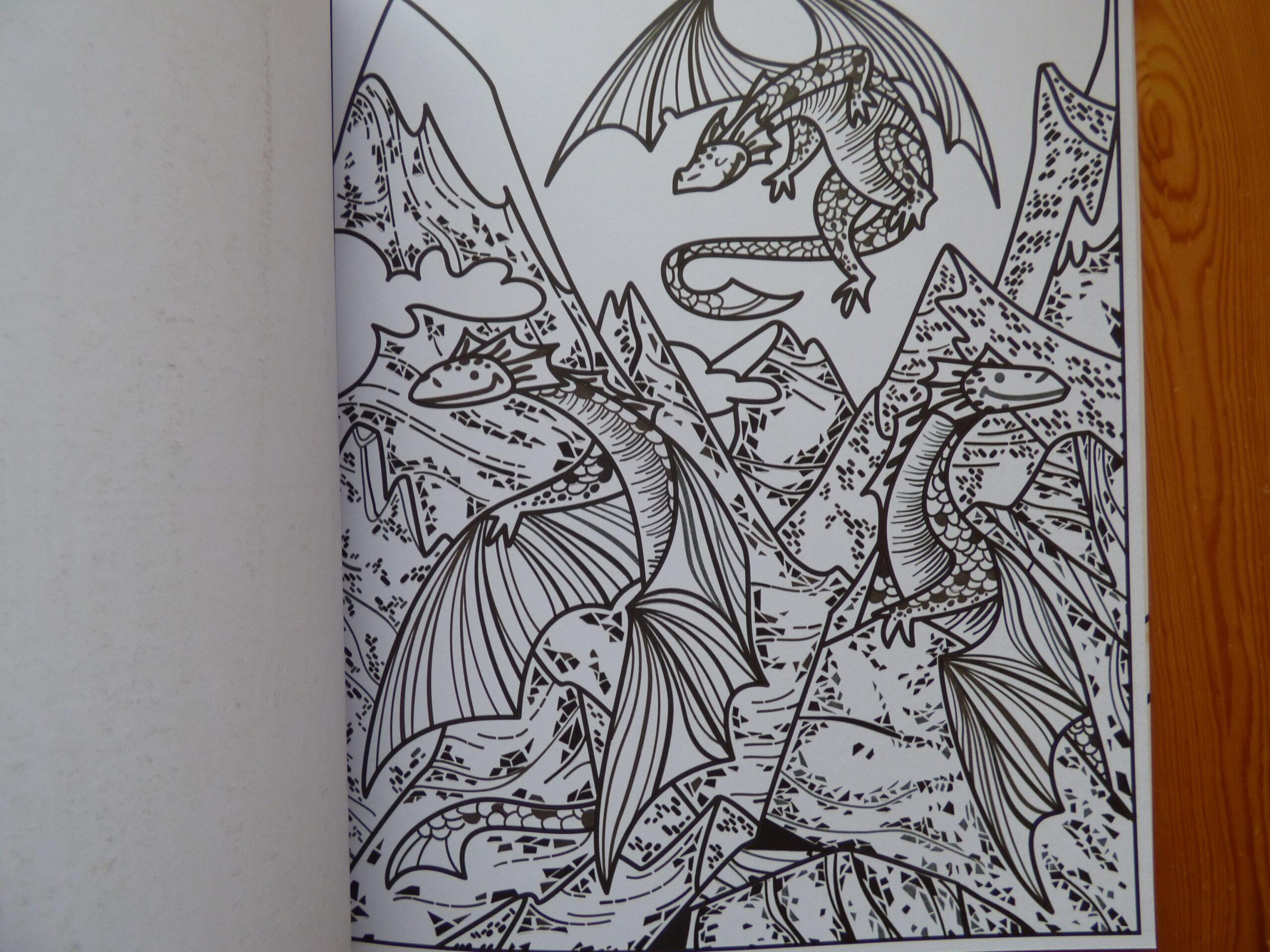 Les dragons peinture magique, extrait