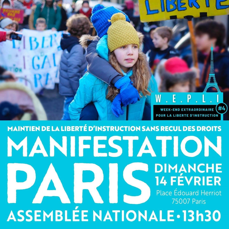 Manifestation pour l'IEF à Paris