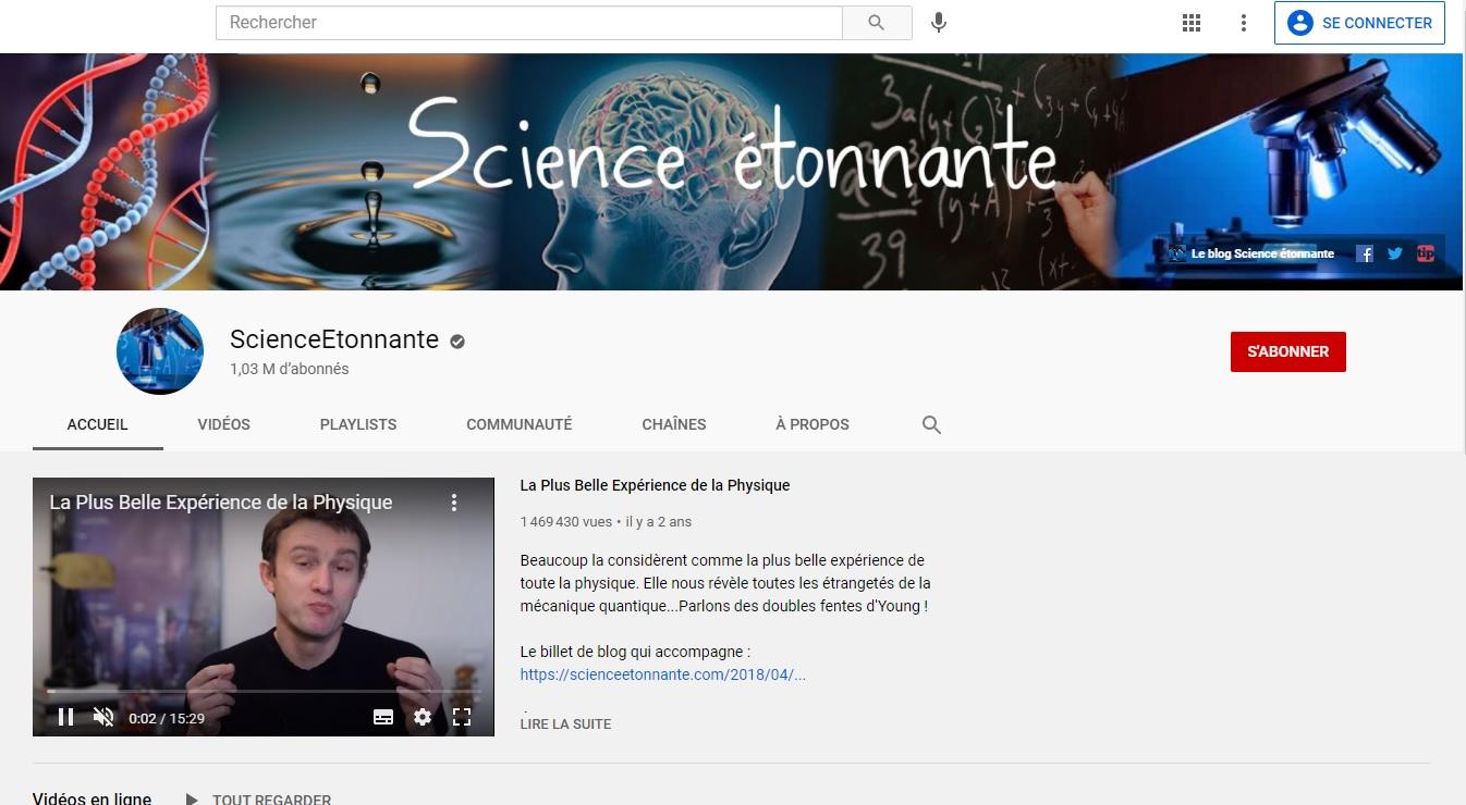 Science étonnante