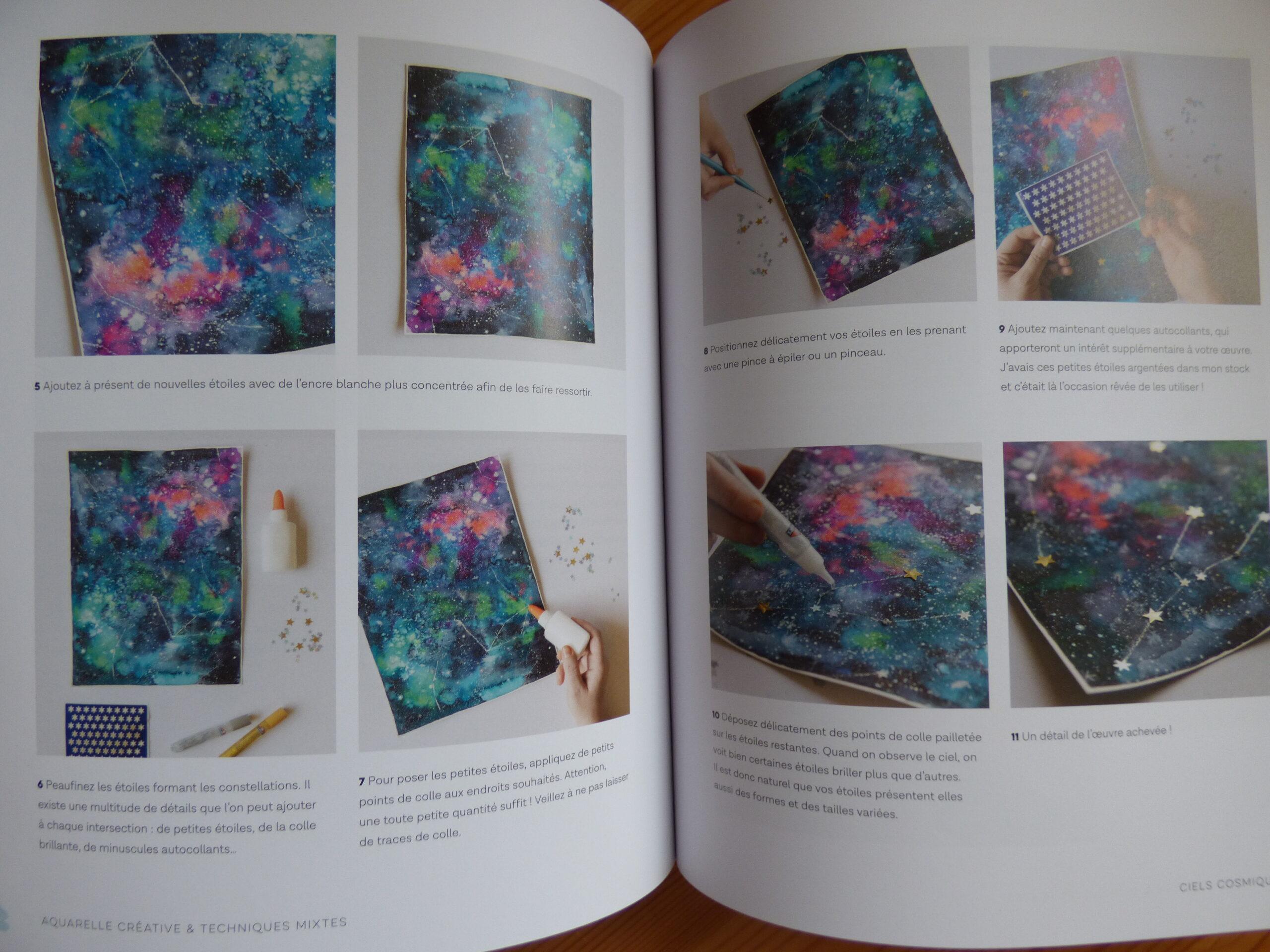 Aquarelle créative & techniques mixtes, extrait