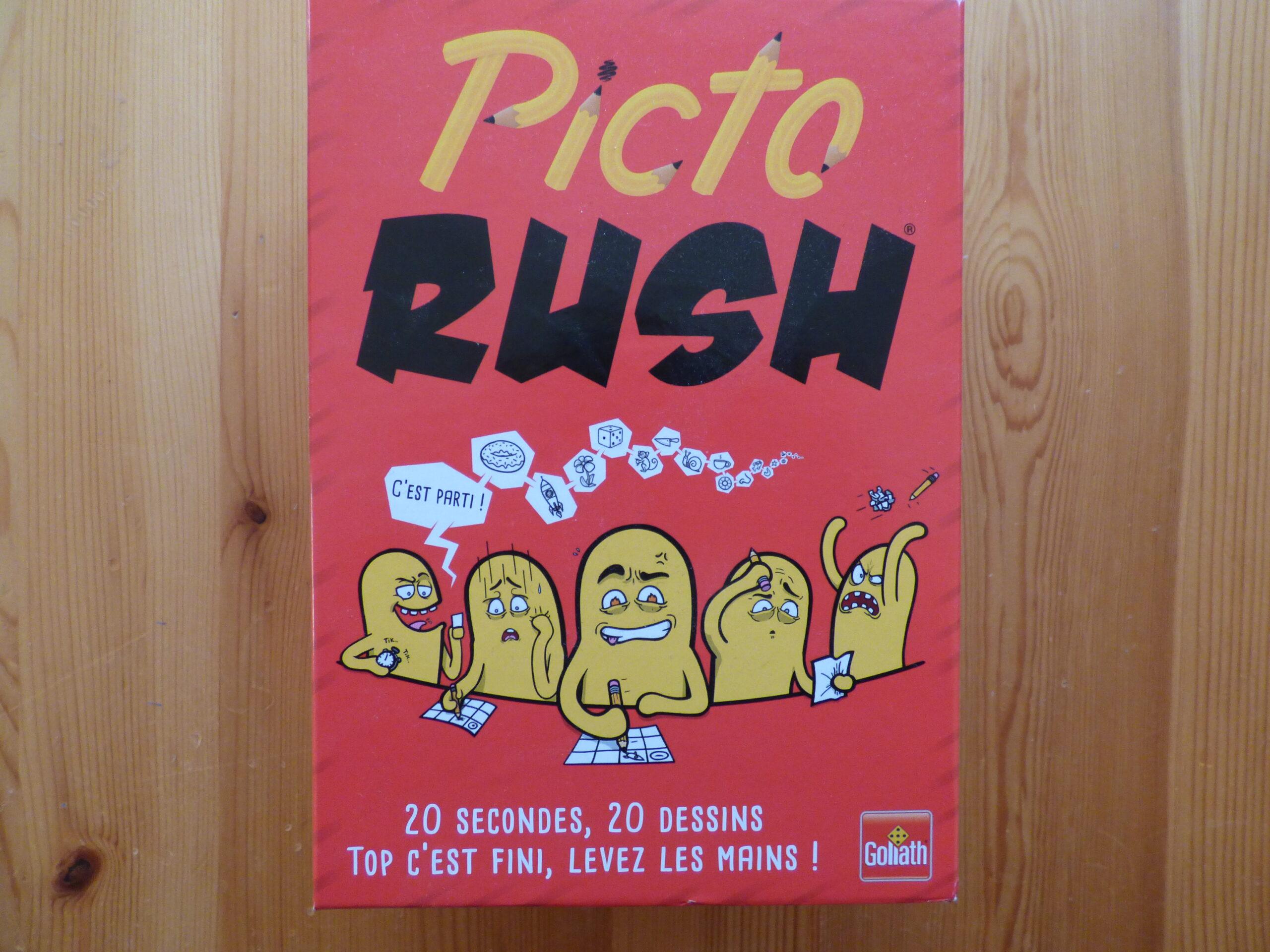 Jeu Picto Rush, boîte