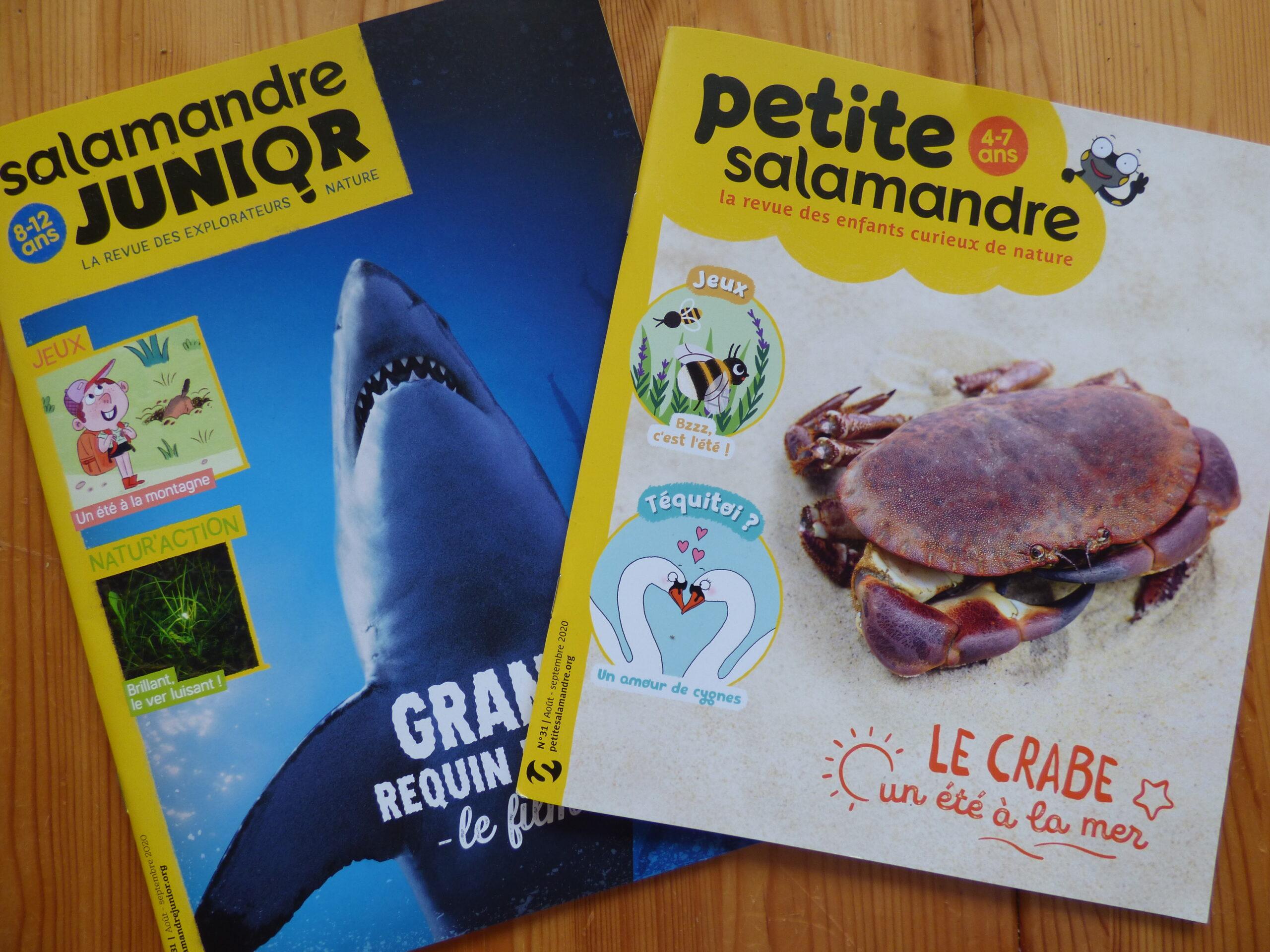 Magazines jeunesse de La Salamandre août-septembre 2020