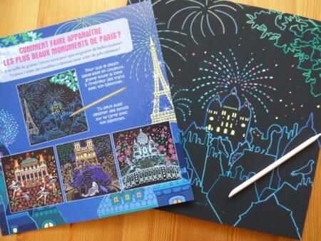 Paris à gratter, cartes