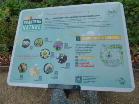 Exposition Grandeur Nature Luxembourg, panneau